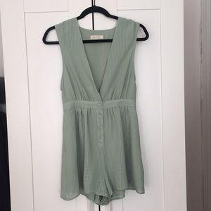 Size small Green urban outfitters Romper.
